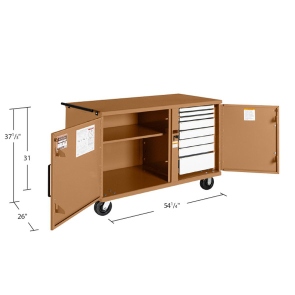 Knaack Model 59 STORAGEMASTER Heavy-Duty Rolling Bench, 1,000 lbs
