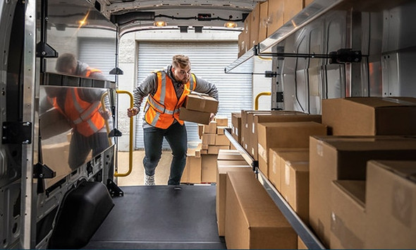 Adrian Steel #6720SP170 Parcel Delivery Package Mercedes Sprinter 170WB