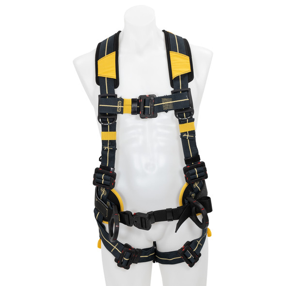 Werner H93410X Blue Armor Arc Flash Construction Harness, Pass Through Legs