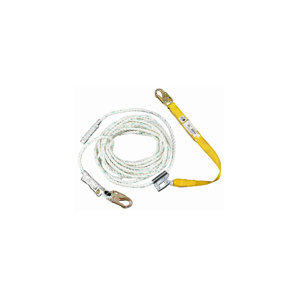 """Werner L232050 50' Rope w/ 18"""" Positioning Lanyard"""