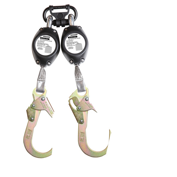 Werner R531007-SR 7 Foot Baseline SRL's with Steel Carabiner and Twin Leg Attachment