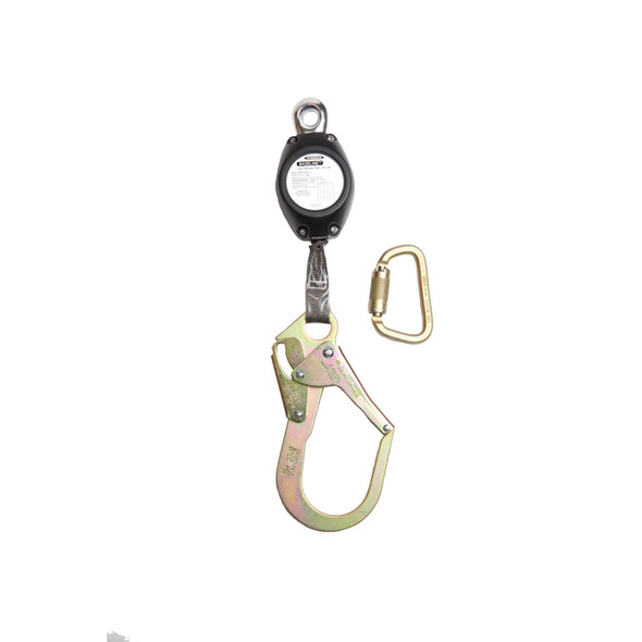 Werner R530007-SR Baseline 7' Web Self-Retracting Lifeline with Steel Rebar Hook