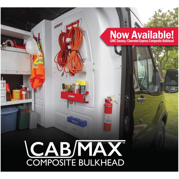 Weather Guard Model 96100-3-01 CabMax Composite Bulkhead, GMC Savana, Chevrolet Express