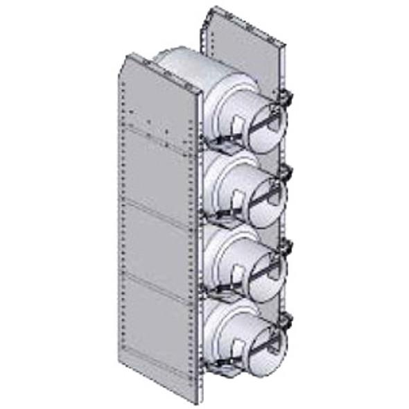 Adrian Steel #TS4T Tank Rack, (4) 30lb , 14.9w x 46.1h x 13.6d, Gray