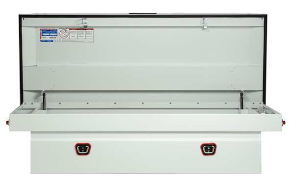 Weather Guard Model 116-X-03 Saddle Box, Steel, Full Extra Wide, 14.5 cu ft