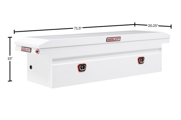 Weather Guard Model 120-X-03 Saddle Box, Steel, Full Low Profile, 10.6 cu ft