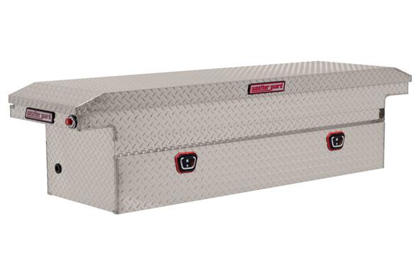Weather Guard Model 121-X-03 Saddle Box, Aluminum, Full Low Profile, 10.2 cu ft