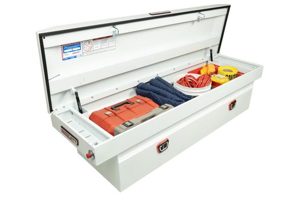 Weather Guard Model 123-X-03 Saddle Box, Aluminum, Full Deep, 14.2 cu ft