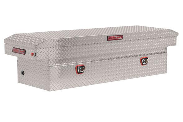 Weather Guard Model 127-X-03 Saddle Box, Aluminum, Full Standard, 10.5 cu ft