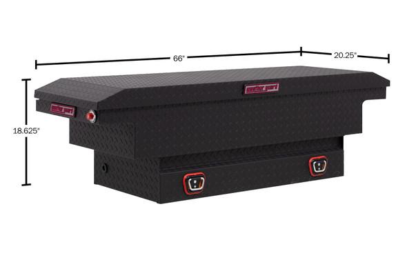 Weather Guard Model 131-X-03 Saddle Box, Aluminum, Compact Low Profile, 7.7 cu ft