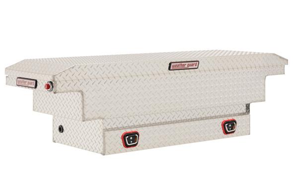 Weather Guard Model 137-X-03 Saddle Box, Aluminum, Compact Deep, 8.0 cu ft