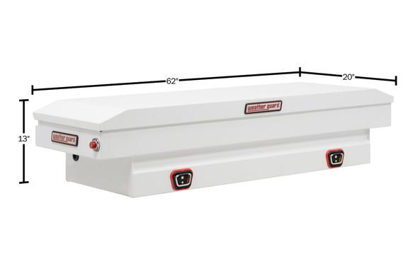 Weather Guard Model 156-X-03 Saddle Box, Steel, Compact, 6.1 cu ft