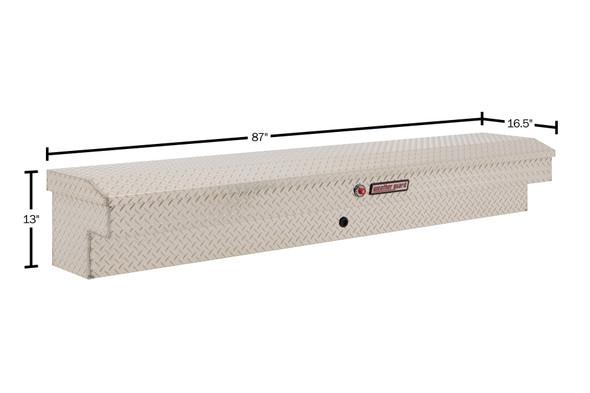 "Weather Guard Model 164-X-03 87"" Lo-Side Box, Aluminum, 6.5 cu ft"