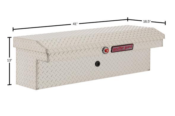 "Weather Guard Model 180-X-03 41"" Low Profile Lo-Side Box, Aluminum, 3.8 cu ft"