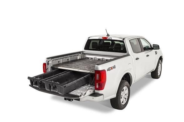 """DECKED Drawer System MF4 - Ford Ranger (2019-current) Bed Length 6' 0"""" Color: Black"""