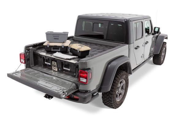 """DECKED Drawer System MJ1 - Jeep Gladiator (2020-current) Bed Length 5' 0"""" Color: Black"""