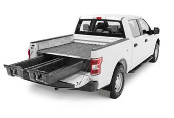"""DECKED Drawer System DF8 - Ford F150 Aluminum (2021-current) - Pro Power Onboard Bed Length 5' 6"""" Color: Black"""