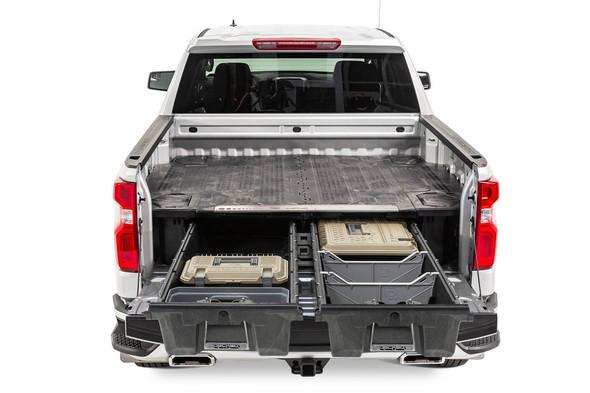 "DECKED Drawer System DG6 - GM Sierra or Silverado 1500 (2019-current) - New ""wide"" bed width Bed Length 5' 9"" Color: Black"