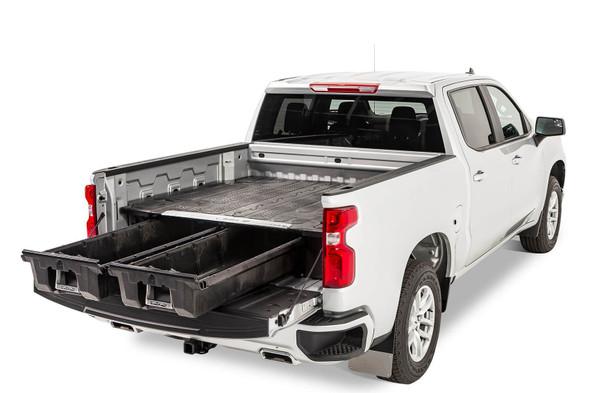 "DECKED Drawer System DG7 - GM Sierra or Silverado 1500 (2019-current) - New ""wide"" bed width Bed Length 6' 6"" Color: Black"