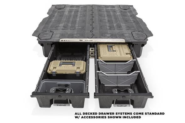 "DECKED Drawer System DN4 - Nissan Titan (2016-current) Bed Length 6' 7"" Color: Black"