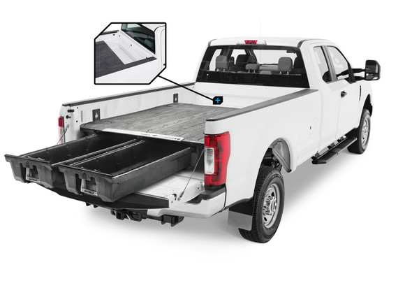 """DECKED Drawer System DS4 - Ford Super Duty 8 Foot (2017-current) Bed Length 8' 0"""" Color: Black"""