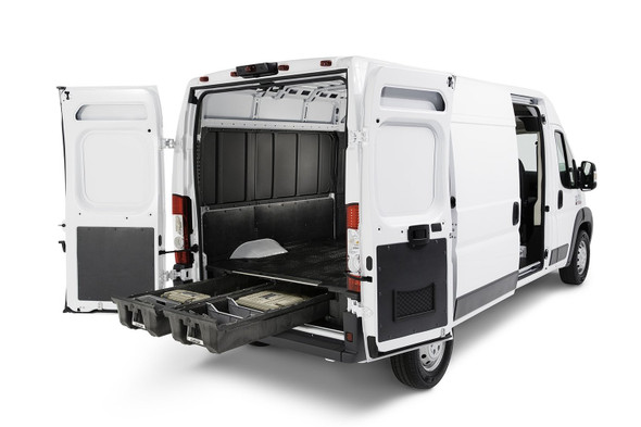 """DECKED Drawer System VNFD13TRAN55 - Ford Transit (2014-current) Bed Length 130"""" Color: Black"""