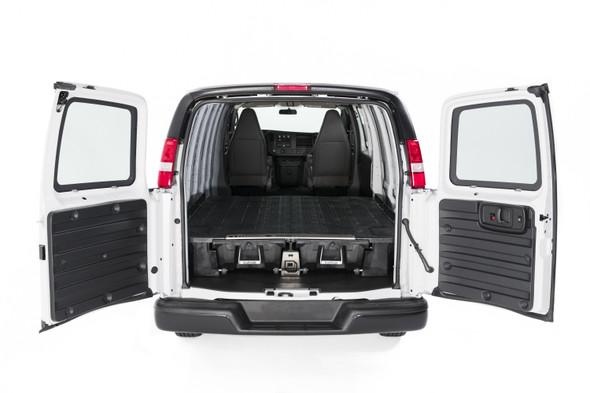 """DECKED Drawer System VNGM96EXSV55 - Chevrolet Express or GMC Savanna (1996-current) Bed Length 135"""" Color: Black"""