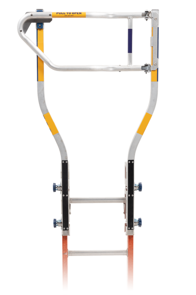 Werner X300001 Extension Ladder WalkThru Gate accessory is designed to fit at the top of the handles of the Model X300000 Werner WalkThru