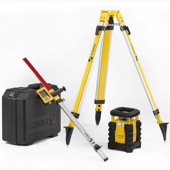Stabila 5820 LAR 300 Exterior Rotating Laser Kit W/Tripod & Grade Rod