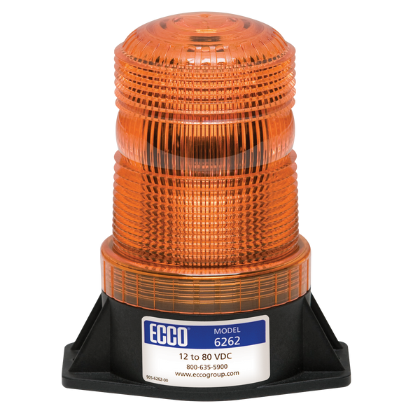 ECCO 6262A   Amber LED Beacons feature three of the latest LEDs and Pulse8 flash operation