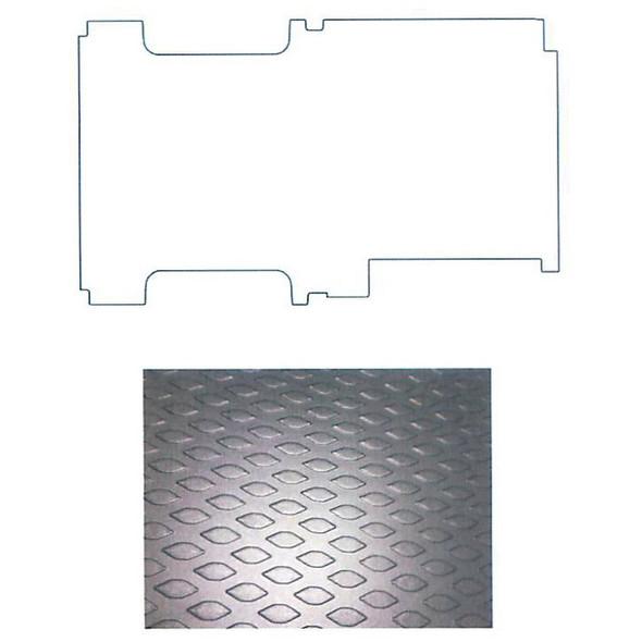 """Adrian Steel #88-130FT Workmat, 114.6w x 0.2h x 68.8d, Black, Transit, 130"""""""