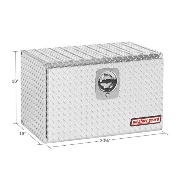 Weather Guard Model 631-X-02 Underbed Box, Aluminum, Compact, 5.4 cu ft