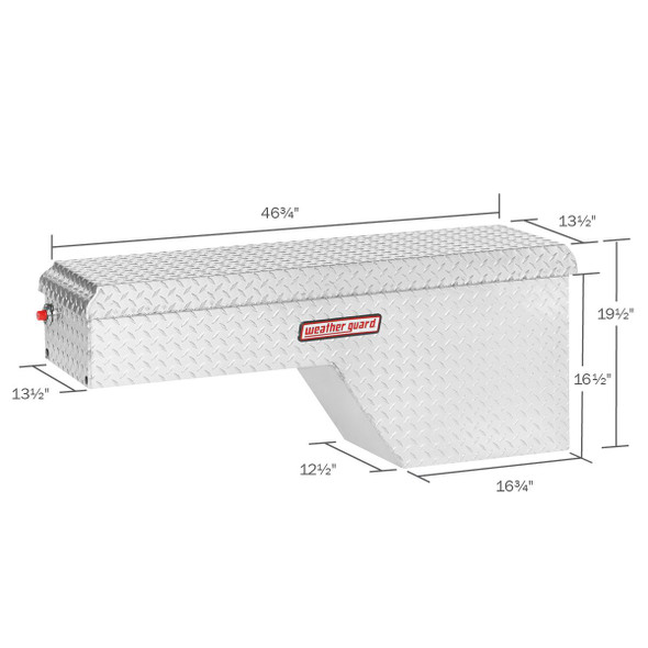 WeatherGuard Model 173-X-01 Pork Chop Box, Aluminum, Passenger Side, 3.4 cu ft
