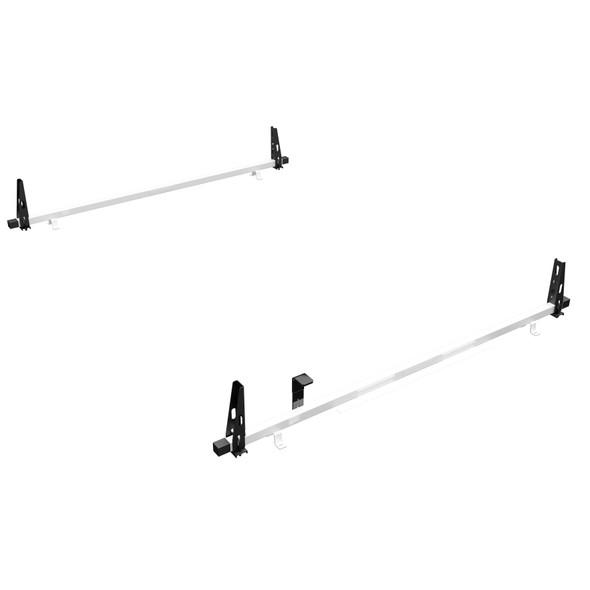 Adrian Steel #2BNLCV-W 2-Bar Utility Rack, White, NV Low Roof