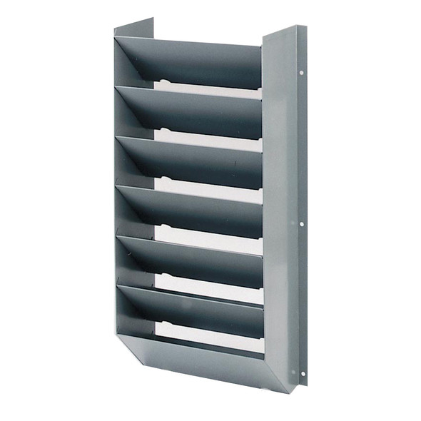 Adrian Steel #CB7 7-Slot Literature Rack, 14.8w x 28.9h x 7d, Gray