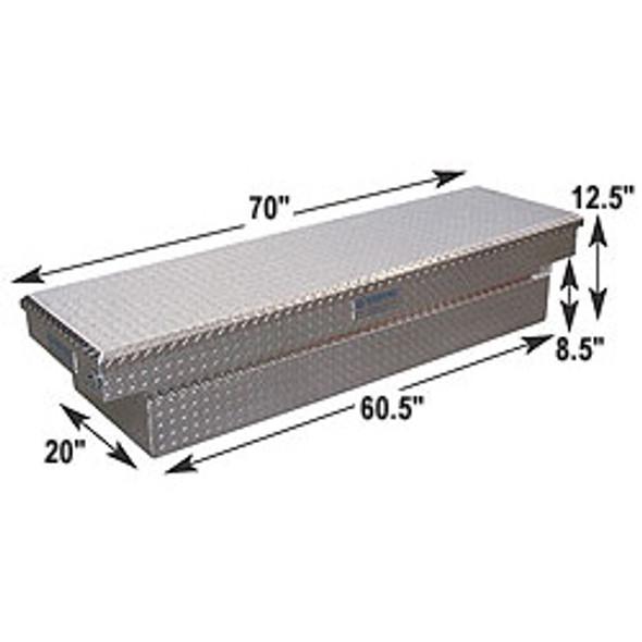 Adrian Steel #AD100 Aluminum Single Lid Crossbox, 70w x 12.5h x 20d