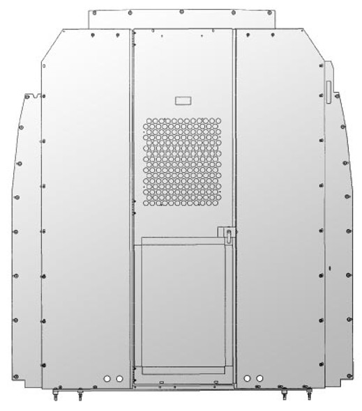 Adrian Steel #S1M2HC1SPH Steel Partition w/ Visibility & Door Kit, Gray, Sprinter High Roof