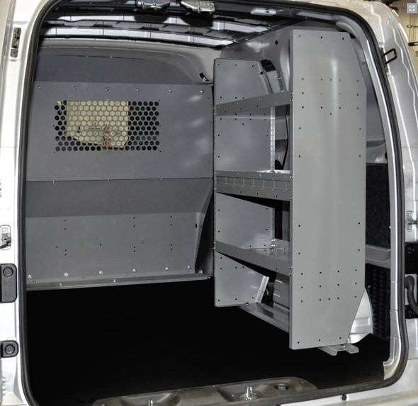 Adrian Steel #4965 - Dual Shelf Starter Package, Gray, City Express, NV200
