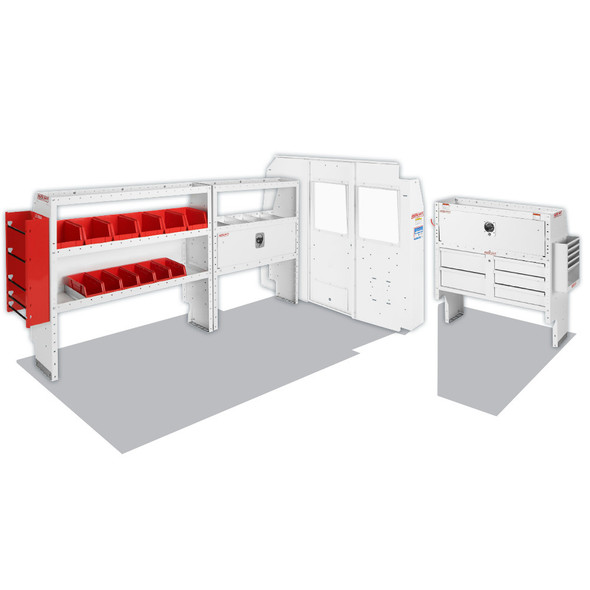 Weather Guard Model 600-8134R Electrical Contractor Van Package, Full-Size, NV2500, 130 WB