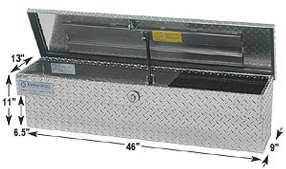 Adrian Steel #AD350 Aluminum Side Toolbox, 46w x 11h x 9d