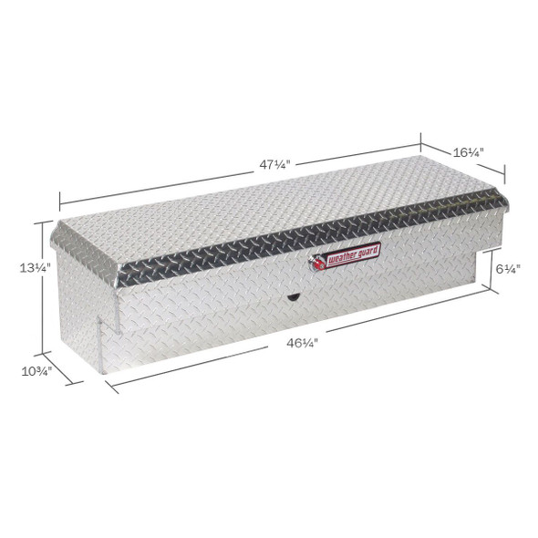 WeatherGuard Model 184-X-01 Lo-Side Box, Aluminum, Short, 3.4 cu ft