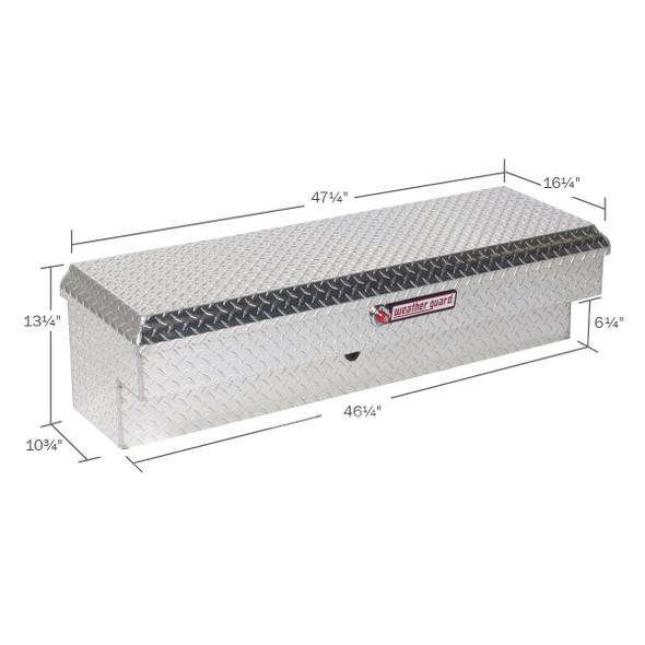 Weather Guard Model 184-X-01 Lo-Side Box, Aluminum, Short, 3.4 cu ft