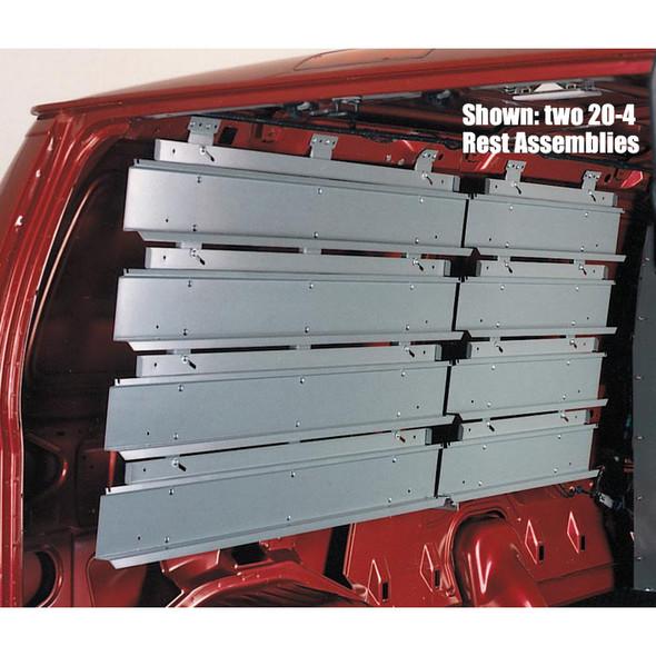 Adrian Steel #20-2 2-Row Hanging Bin Rack, 34w x 18.1h x 2d, Gray / GM Full Size Vans