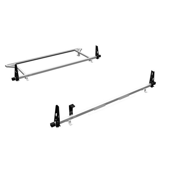 Adrian Steel #2BARRNV2-W | 2-Bar Utility Rack w/ rear Roller, White, NV Low Roof