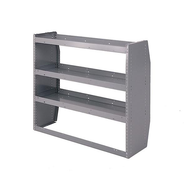 Adrian Steel #30-52 3-Shelf Unit, 52w x 36h x 14d, Gray