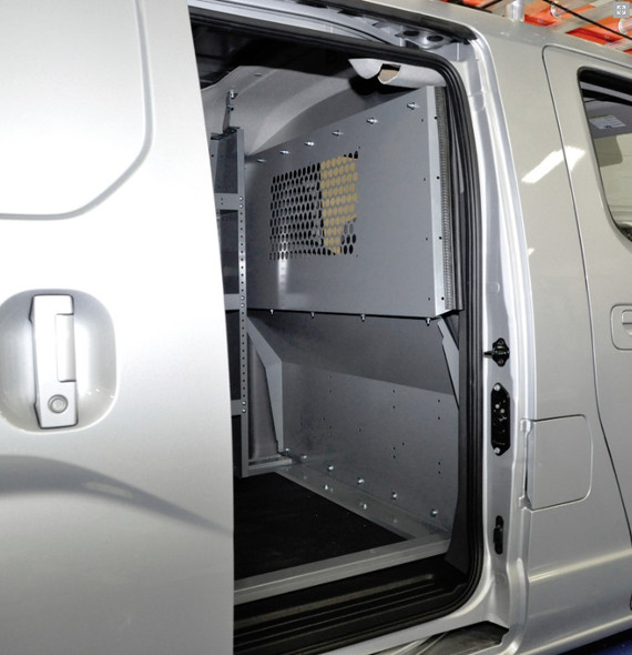 Adrian Steel #4968 Grip Lock Ladder Rack & Partition Starter Package, Gray, City Express, NV200