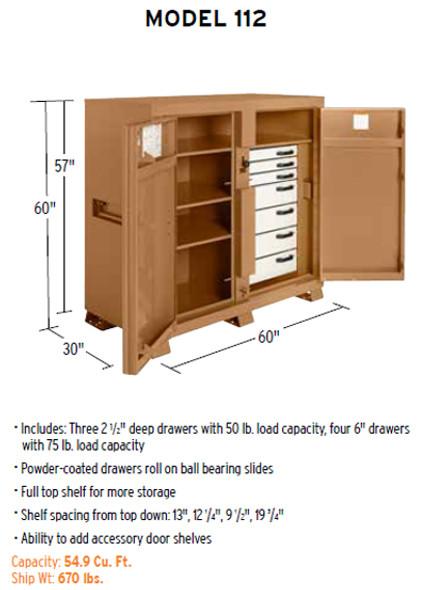 Knaack Model 112 JOBMASTER Cabinet, 54.9 cu ft
