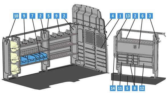 Adrian Steel 4690NS - HVAC Starter Package, Gray, NV Low Roof