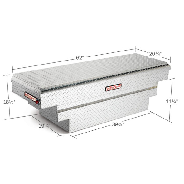 Weather Guard Model 137-X-01 Saddle Box, Aluminum, Compact Deep, 8.9 cu ft