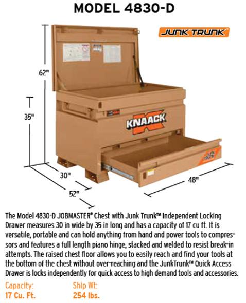Knaack Model 4830-D Dual Level Storage Box